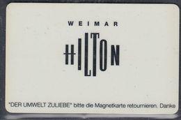 GERMANY Hotelkarte - Key-card  - Hotel Hilton Weimar - Hotelkarten