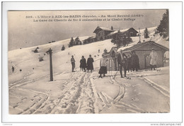 (n°710) CPA 73 AIX LES BAINS Au Mont Revard La Gare Du Chemin De Fer Crémaillère Chalet Cachet Hospices Civil Militaire - Aix Les Bains