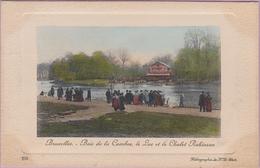 Brussel Bruxelles 1911 Bois De La Cambre Le Lac Et Le Chalet Robinson Ter Kamerenbos Meer - Bossen, Parken, Tuinen