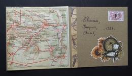 Chevreuse, Dampierre, Choisel, Cernay-la-Ville, Auffargis, Maincourt, Senlisse, Boullay-les-Troux,  Plan De 1924. - Chevreuse