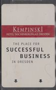 GERMANY Hotelkarte - Key-card  - Hotel Kempinski Dresden - Hotelkarten