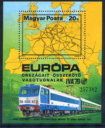 HUNGARY 1979 International Transport Exhibition Block MNH / **.  Michel Block 137 - Blocks & Kleinbögen