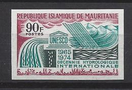 Mauritanie N° 252 ** Non Dentelé, Unesco, Decennie Hydrologique Internationale - Mauritanie (1960-...)