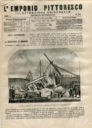 1873 Italian Magazine Tragic Collapse In IZMIR Smyrna Smyrni Smyrne Turkey Turkiye - Ante 1900