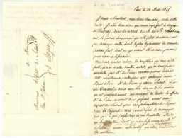 H. De LEVARE L.A.S. Paris 1825 à Hebert De Soland à Angers Coudray Bourdonnaye Pothere Taquein Andigné - Documenti Storici