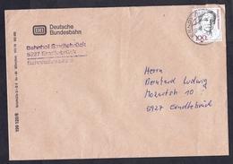 Germany: Cover, 1989, 1 Stamp, Sent By Bundesbahn, Bahnhof Erndtebrück, Train Station, Railways (traces Of Use) - Brieven En Documenten