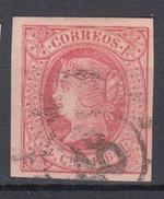 WP287 España Spain Espagne Spanien Isabel II Edifil 64 Rueda Carreta 48 Vitoria Alava - 1850-68 Königreich: Isabella II.