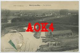02 Aisne BERRY AU BAC Vue Generale 1911 Pont Bateaux Pontavert - France
