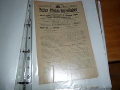 Journal ; PETITES AFFICHES  MARSEILLAISES 1920 Marseille - Vieux Papiers