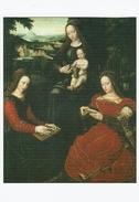 VIERGE A L'ENFANT ET SAINTE BARBE ET SAINTE CATHERINE D'ALEXANDRIE ( Ambrosius Benson Né à Gand 1484-mort à Bruges 1561) - Vierge Marie & Madones