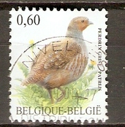 BELGIQUE    -   Perdrix  -   Oblitéré