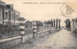 37 - INDRE ET LOIRE / Continvoir - Avenue De La Gare Et Villa Roche Claire - Altri Comuni