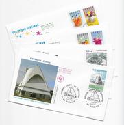 Enveloppes  1er Jour FDC 2007 4 Enveloppes, Firminy, Castres, Occasions Festives(2modeles) - FDC