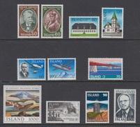 1978 ** Islande (sans Charn., MNH, Postfrish) Complete Yv 481/91  Mi 528/38  FA 565/75 (11v) - Island