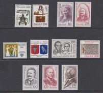 1979 ** Islande (sans Charn., MNH, Postfrish) Complete Yv 492/02  Mi 539/49  FA 576/86 (11v) - Komplette Jahrgänge