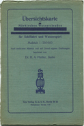 Übersichtskarte Der Märkischen Wasserstrassen Für Schiffahrt Und Wassersport 30er Jahre - Maßstab 1:250'000 75cm X 95cm - Cartes Marines