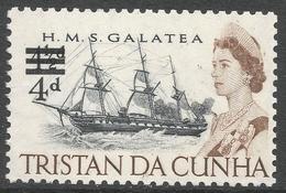 Tristan Da Cunha. 1967 Surcharge. 4d On 4½d MH SG 108 - Tristan Da Cunha