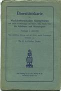 Übersichtskarte Des Mecklenburgischen Seengebietes Und Seinen Verbindungen Für Schiffahrt Und Wassersport 30er Jahre - M - Seekarten