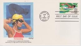 FDC ETATS UNIS 1983  JEUX OLYMPIQUES DE LOS ANGELES 1984  NATATION - Summer 1984: Los Angeles