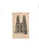 Carte Postale Orléans - La Cathédrale. Eglise Sainte-Croix - 25/01/1903 - Orleans
