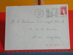 Marcophilie (Lettres) > Oblitérations Mécaniques > Flammes, 33 Ste Foy La Grande, Les Vielles Pierres -1980 - Storia Postale