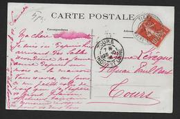Maine Et Loire - Cachet Pointillé  TIGNE - Marcophilie (Lettres)