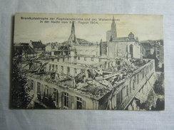 AK Cp -- Waisenhauses Brandkatastrophe Magdalene Kirche 6\7 August 1904 - Weissensee