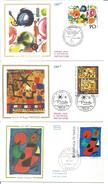 -lot De 3 - Tableaux -peintres Bissière - Tinguely - Calvente - Non Classificati