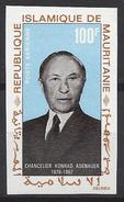 Mauritanie N° 72 ** Non Dentelé, Poste Aérienne, Chancelier Konrad Adenauer - Mauritania (1960-...)