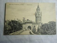 AK Cp -- Gruss Aus Hessen Friedberg Burgeingang - Weissensee