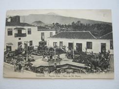 1914 , Marineschiffspost Stempel  Auf Ansichtskarte Aus Teneriffa - Deutschland
