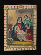 INGEKLEURDE H.PRENT - IMAGE PIEUSE 10.5X7.5 CM =  L'ADORATION DES BERGES -- 2 AFBEELDINGEN - Images Religieuses