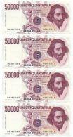50000 LIRE GIAN LORENZO BERNINI I TIPO LETTERA C 01/12/1986 CONSECUTIVE FDS - [ 2] 1946-… : Repubblica