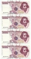 50000 LIRE GIAN LORENZO BERNINI I TIPO LETTERA C 01/12/1986 CONSECUTIVE FDS - [ 2] 1946-… : République