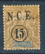 Nouvelle Caledonie 1900-901 N. 56 C. 15 Su C. 30 UsatoCat. € 6 - Nuova Caledonia