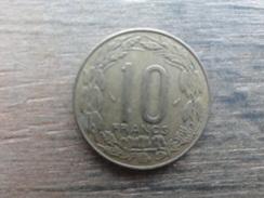 Central African  10 Francs  1977  Km 9 - Centrafricaine (République)