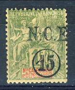 Nouvelle Caledonie 1900-901 N. 58 C. 15 Su F. 1 MH Cat. € 40 - Nuova Caledonia