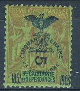 Nouvelle Caledonie 1903 N. 86 C. 15 Su C. 20 MH Cat. € 4.50 - Nuova Caledonia