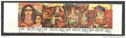 INDIA, 2007, International Women´s Day, FULL SHEET Of 5 Strips Of 4 V Each, MNH, (**)