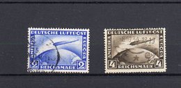 Deutsches Reich Flugpost Zeppelin 423-4 Gestempelt 2+4 RM   ( N  5978  ) - Gebraucht