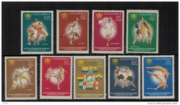 Colombia  1961 SC  736-739, C414-C419 MNH Bolivarian Games Sports - Colombia