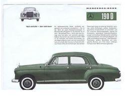 MERCEDES BENZ 190D - VINTAGE BROCHURE - 1960s - Transportation