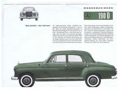 MERCEDES BENZ 190D - VINTAGE BROCHURE - 1960s - Unclassified