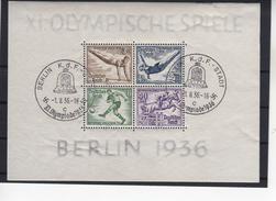 Deutsches Reich Blöcke 5+6 Olympia Dickes Papier Gestempelt 1.8.36    (  N  5982  ) - Gebraucht