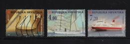 Croatia 1998, Ships, Minr 477, 479-480, Vfu. Cv 4,50 Euro - Croatia