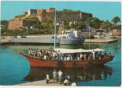 GREECE - CORFOU / CORFU -  ARRIVEE DE FRANCAIS U VIEUX PORT-  STAMP 1960s ( 42 ) - Cartes Postales