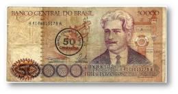 BRASIL - 50 CRUZADOS On 50 000 CRUZEIROS - ND ( 1986 ) - P 207 - Serie 4188 - Sign. 23 - Oswaldo Cruz - 50000 - Brazil