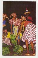 JAMAICA - NATIVE GIRLS DOING BANANA DANCE - EDIT MIKE ROBERTS 1960s STAMP ( 265) - Cartes Postales