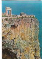 GREECE - RHODES / RODI - THE CITADEL OF LINDOS  - STAMP - 1970s ( 30 ) - Cartes Postales