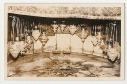 PALESTINA - BETHLEHEM - THE HOLY STAR - RPPC POSTCARD 1960s - JORDAN STAMPS (158 - Cartes Postales
